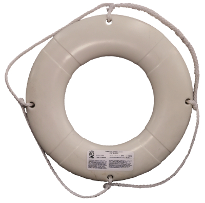 24 Quot Uscg Approved White Life Ring Buoy