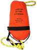 15 meter throw bag with 5/16 inch floating waterline