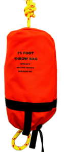 75 foot throw bag with 3/8 inch floating waterline